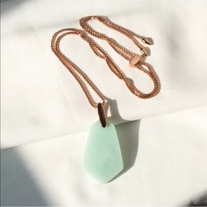 NWT Kendra Scott Cam Necklace Rose Gold & Teal